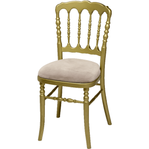 chaise napoleon or assise blanche