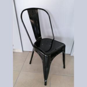 chaise acier noire