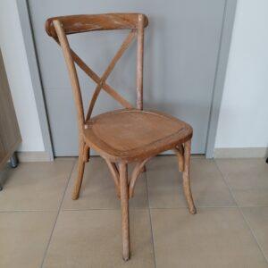 chaise cerusée patinée blanc